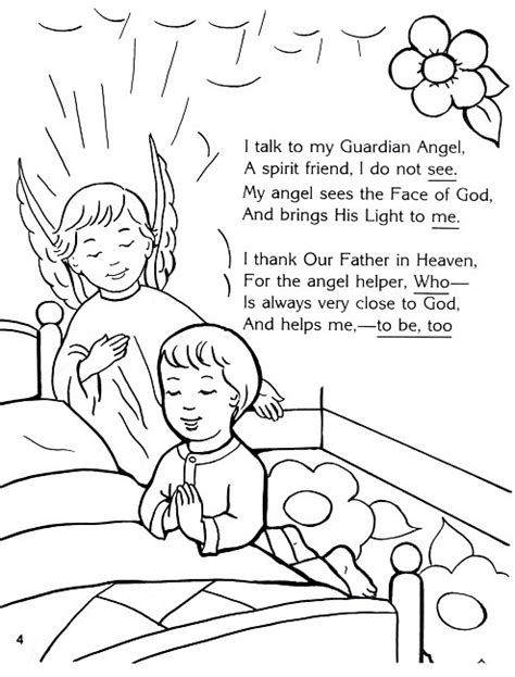 coloring page guardian angel prayer 1000 images about sunday school coloring pages on