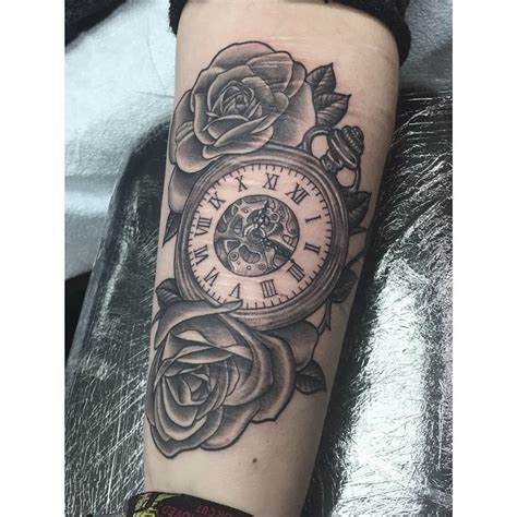 tattoo arm watch image result for pocket watch tattoos tattoo art