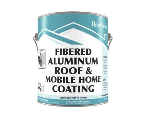 roofworks fibered aluminum roof mobile home coating 9