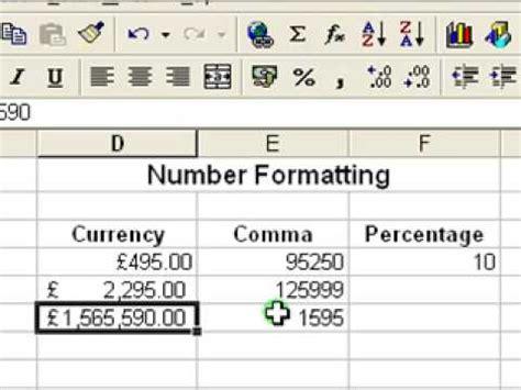 excel tutorial numbering microsoft excel tutorial for beginners 5 number formats