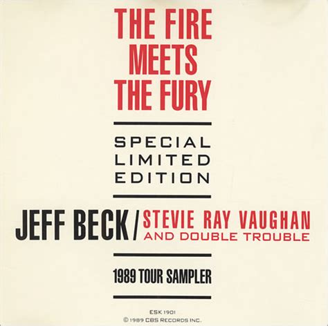 jeff beck  fire meets  fury  strips  stratocaster usa promo cd album cdlp