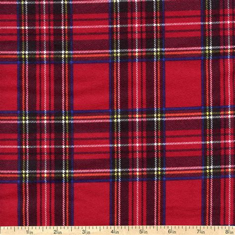 Redred Tartan plaid flannel fabric images