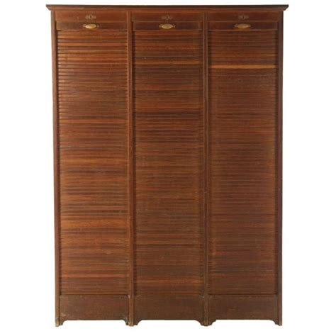 Roll Top Cabinet by Roll Top Cabinet Circa 1910 Three Vertical