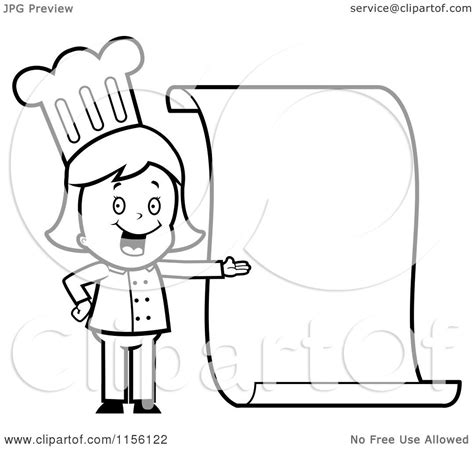 cartoon clipart of a black and white chef presenting