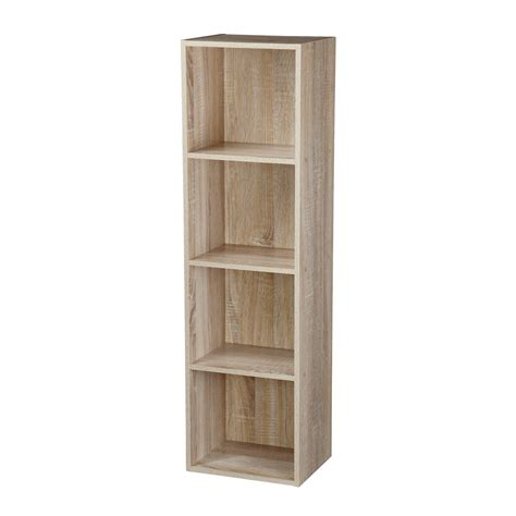 2 4 Tier Wooden Bookcase Shelving Bookshelf Storage Cube Storage Shelves