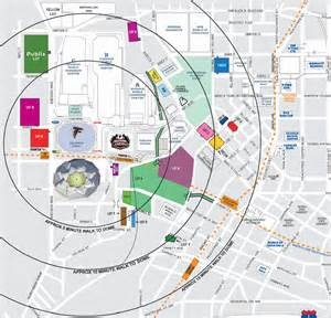 dome tailgating map buy and sell parking passes for the atlanta falcons at