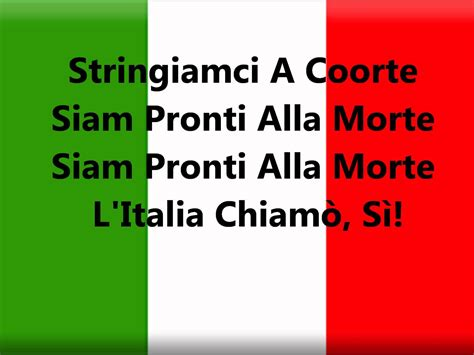 best known italian songs national anthem of italy