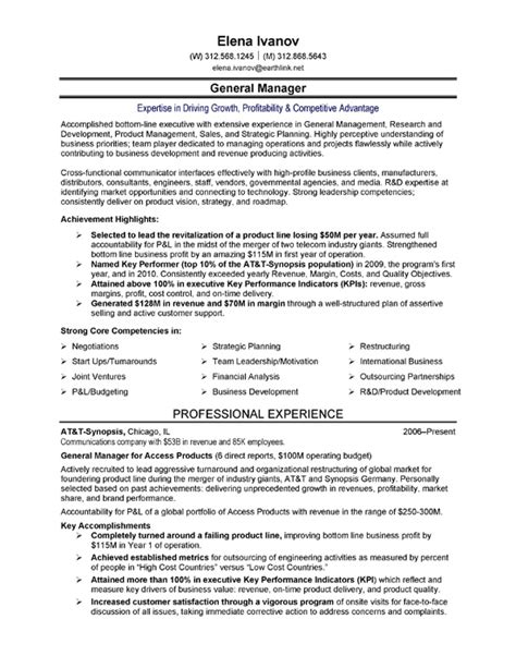 Executive Resume by Telecom Executive Resume Sle