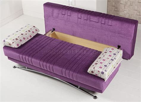 Fantasy Corbin Purple Sofa Bed By Sunset In Microfiber W Purple Sofa Bed