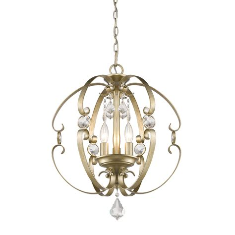 Ella White Gold Three Light Pendant Golden Lighting Other Gold Pendant Light