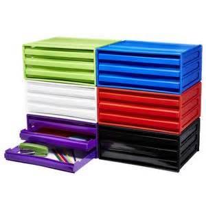 Officeworks Desk Organiser j burrows desktop file storage organiser 3 drawer purple