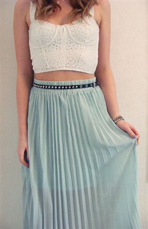 crop top maxi skirt my style