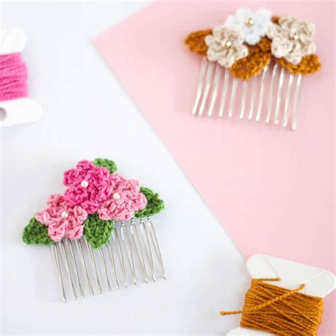 free patterns and instruction on making flower hair clips make crochet flower hair combs persia lou