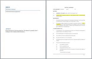 Professional Contract Template by Professional Services Contract Template Microsoft Word
