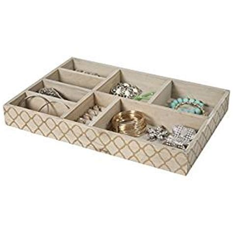 8 section jewelry tray drawer organizer