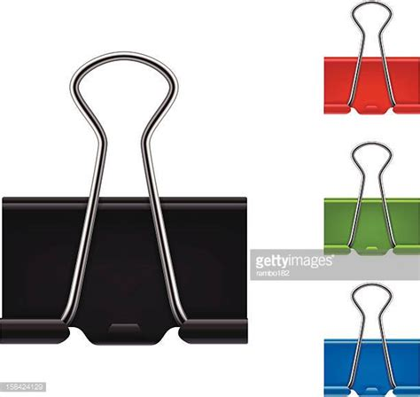 binder clip binder clip stock illustrations and getty images
