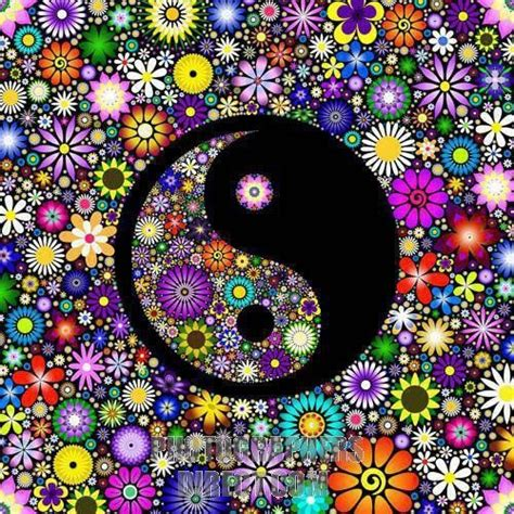 colorful yin yang colorful floral ying yang want as a just thing