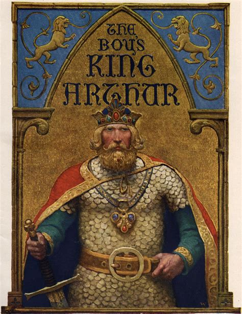 king arthur and the title page of the boy s king arthur n c wyeth wikiart org encyclopedia of visual arts