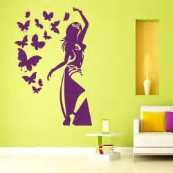 wall decals girl vinyl sticker belly dancer decal dance wall mural dance party dancing music pixersize com