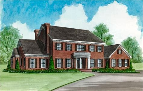 free home plans center colonial floor plans