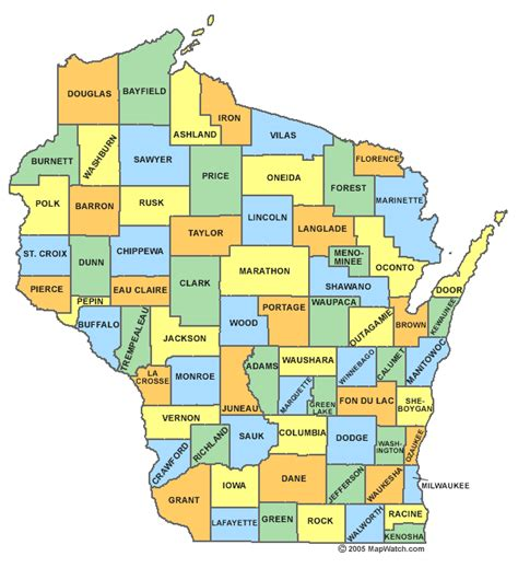 united states map wisconsin wisconsin