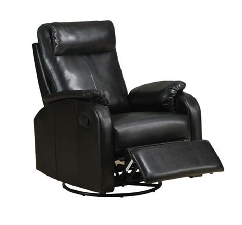walmart black recliner monarch specialties black bonded leather swivel rocker