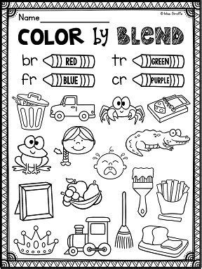 L Blends Coloring Pages r blends worksheets and activities no prep pack