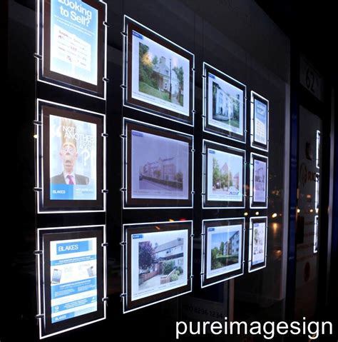 lighted window displays 1 a3 2 sided landscape save energy led advertising shop window display sign unit ebay