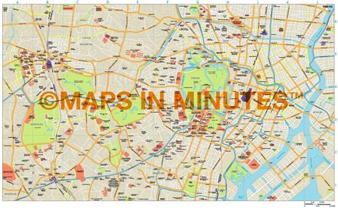 printable map tokyo royalty free tokyo illustrator vector format city map