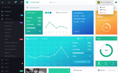 html based themes download emerald admin v 1 1 0 responsive motion based
