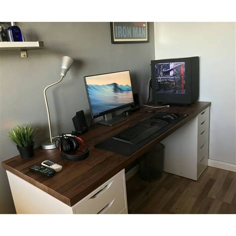 ikea custom computer desk 23 diy computer desk ideas that make more spirit work