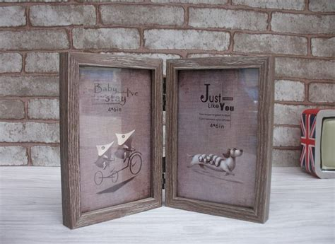 Frame Foto Wooden1 Landscape And 2 Potrait Frame Foto Kayu Frame vintage wood picture frame home cinderalla series 2 boxes wooden photo frame display family