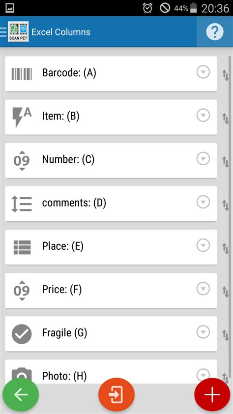 android landscape layout exle xscanpet barcode scanner inventory excel wifi
