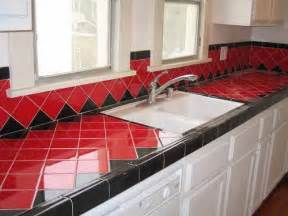 wonderful Kitchen Remodeling Greenville Sc #4: Red-Ceramic-Tile-Kitchen-Countertops.jpg
