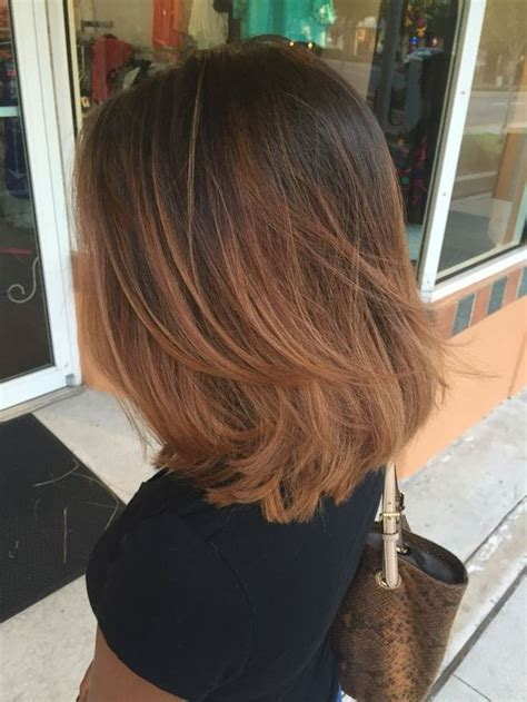 how long does hair ombre last ombr 233 with layered long bob hairstyles pinterest