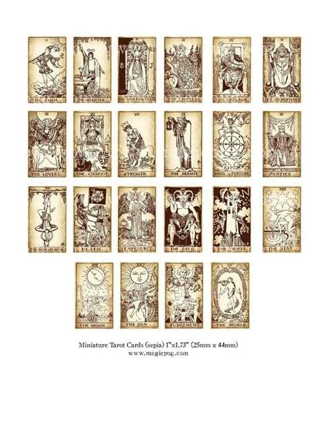 printable tarot cards download miniature dollhouse tarot card digital collage sheet for
