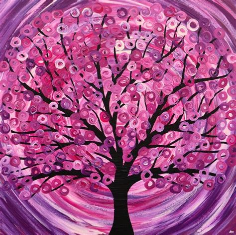 Bedroom Athletics Raspberry Ripple Print Raspberry Ripple Tree Painting