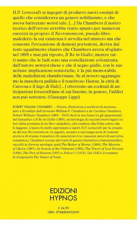 libro il re giallo il re in giallo edizioni hypnos di andrea achille vaccaro