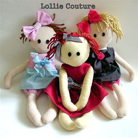 Handmade Soft Dolls - cloth dolls are a popular leisure activity