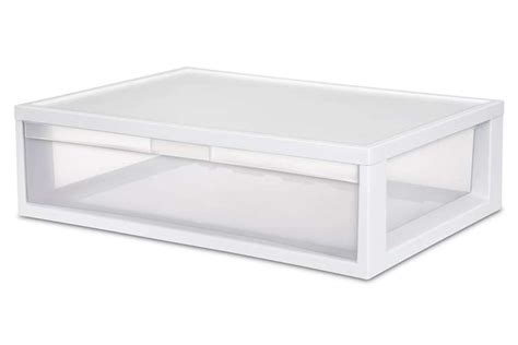 sterilite single drawer storage sterilite large modular stacking drawer single