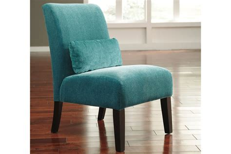 annora teal accent chair  ashley  gardner white