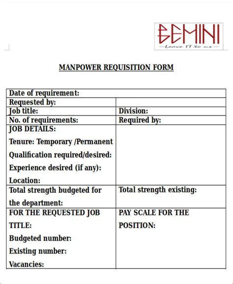 requisition forms