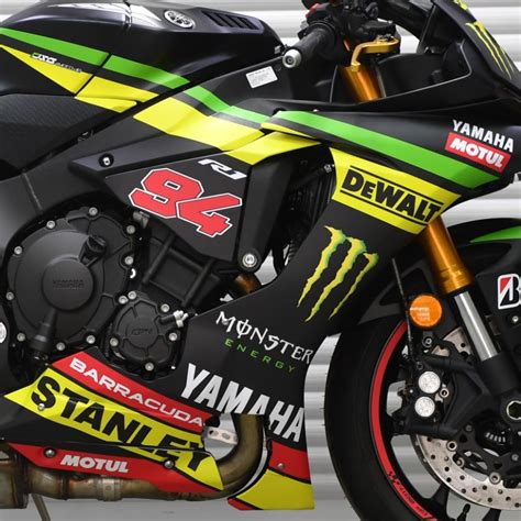 Yamaha Tech 3 Aufkleber by Motorradaufkleber Bikedekore Wheelskinzz Yamaha R1