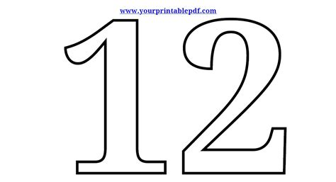 free coloring pages of numbers 11 20