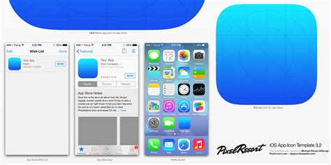 ios application templates app store template images