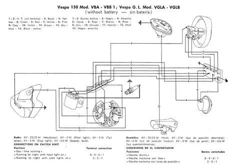 vespa vvb wiring diagram vespa p125x wiring diagram