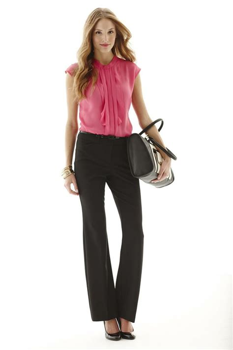pantalon de travail 399 pantalons droits et chemisier styl 233 mode