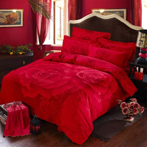 romantic comforters red rose printed romantic bedding sets ebeddingsets