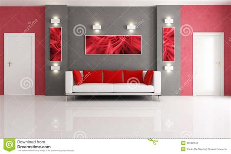 red and gray living room grey and red living room stock photography image 13708142