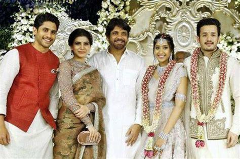 actor nagarjuna son akhil nagarjuna s son akhil gets engaged to shriya bhupal in
